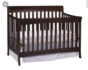 Espresso Wood Crib $150