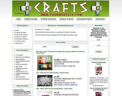 Art Craft Store (ART & CRAFT - FULLY AUTOMATED AFFILIATE STORE BUSINESS WEBSITE FOR)