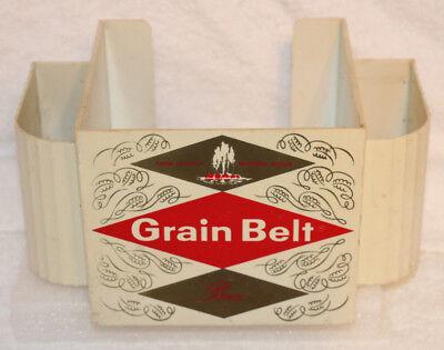 Grain Belt Beer Back Bar Napkin & Straw Holder.  No Cracks.  Has Wear.  See Pics
