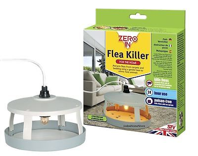 New Mains Plug Home Flea Trap Killer Traps Dog Fleas Kills Flea Poison Free