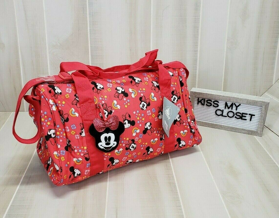 Disney Minnie Mouse Duffel Bag Red Girls Overnight Tote & Ba