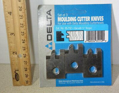 Delta Molding Cutter Knives Knife Set 35-112 Moulding Cutterhead Usa Made Nos