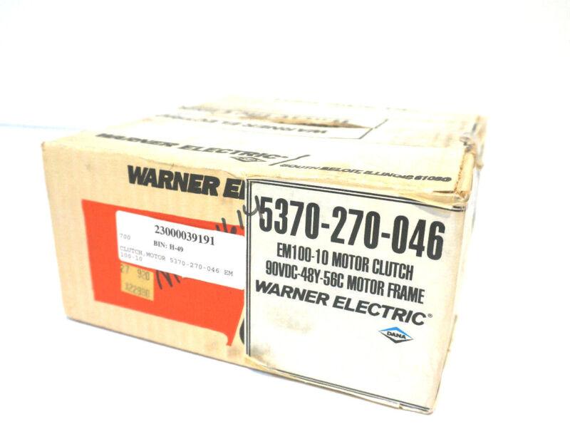 NEW WARNER ELECTRIC 5370-270-046 MOTOR CLUTCH 5370270046