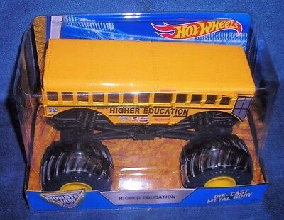 Hot Wheels 2017 Higher Education School Bus Monster Jam Truck First Edition New