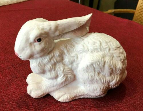 White Rabbit Spring Easter or Garden Porcelain Ceramic Animal Figurine