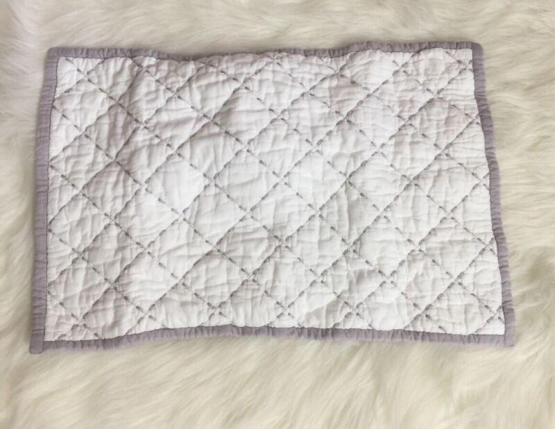 "Restoration Hardware Lilac Bound Diamond Baby Sham White 12""x18"""