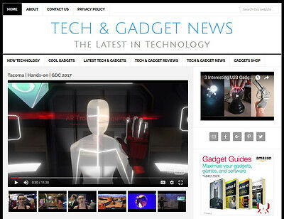 New Design Tech Gadget News Blog Website Business For Sale W Auto Content