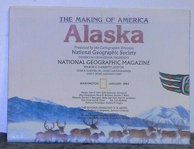 Vintage 1984 National Geographic Map of Alaska w/Historical Notes