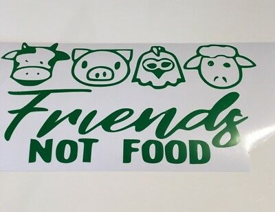 Friends not Food ,car decal/ sticker for windows, bumpers , panels or laptop