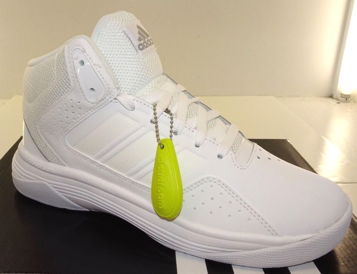 Adidas Cloudfoam Ilation Mid Men's Basketball Shoes Wht NWD