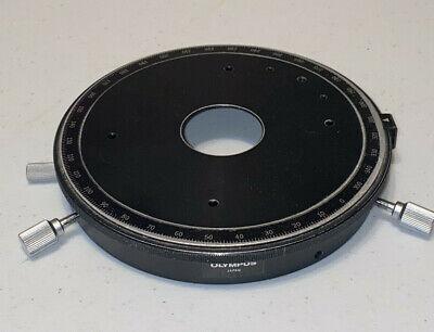 Olympus Bh2-tr30 Circular Rotatable Microscope Stage