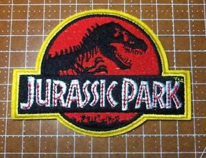 Jurassic Park Movie Logo Embroidered Iron-On Deluxe Patch New Red Applique 4