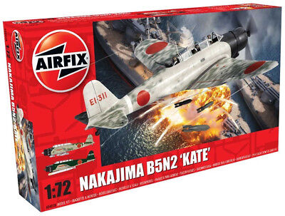Airfix Nakajima B5N2 'Kate' 1:72 Scale Plastic Model Plane A04058