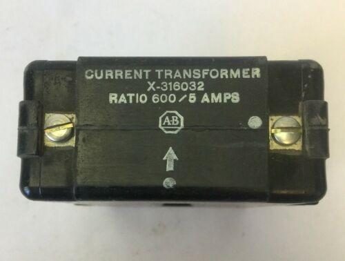 ALLEN BRADLEY X-316032 CURRENT TRANSFORMER RATIO 600/5 AMPS