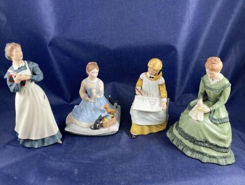 Complete Set of 4 Little Women Fine Porcelain by Tasha Tudor: Jo, Amy, Beth, Meg