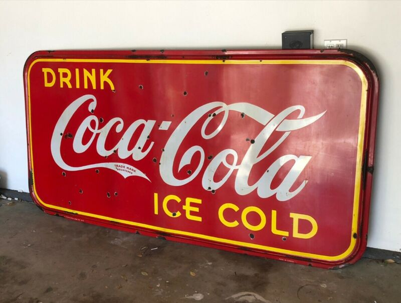 Original 1942 Coca Cola Sign - Maine