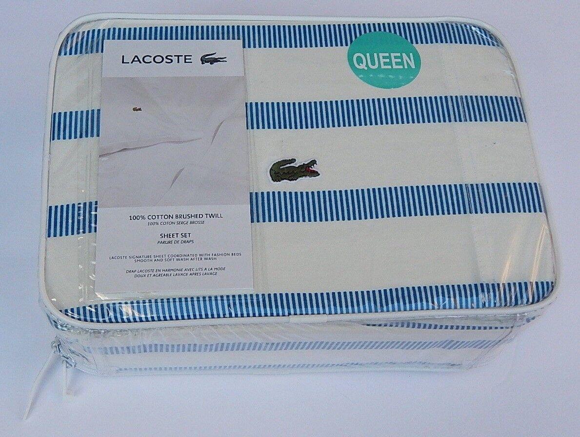 brushed twill sheet set bristol stripe queen