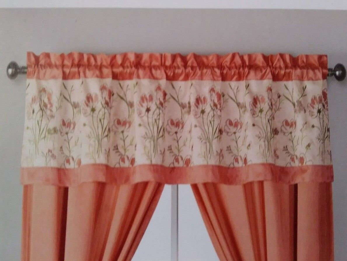 NWT Home Accents Belk MILFORD Valance Ivory Peach Sage Green
