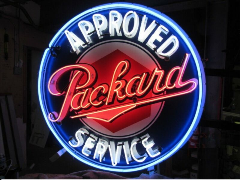 "New Packard Approved Service Bar Lamp Neon Sign 24""x24"" With HD Vivid Printing"