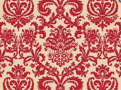 Red Flourish on Kraft Backdrop Gift Wrap Tissue Paper 20