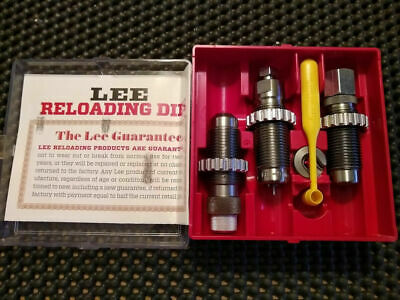 Small Lee Precision Reloading Undersize Sizing 9mm Die Set Silver