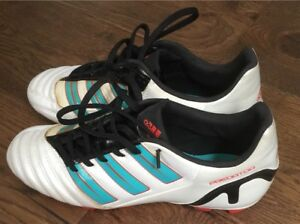 BARELY USED!!! WOMENS US 8 ADIDAS LEATHER CLEATS