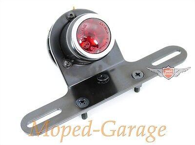 Tüv Schwarz Chopper Custom Neu * Harley Motorrad Tube Rücklicht Old School LED