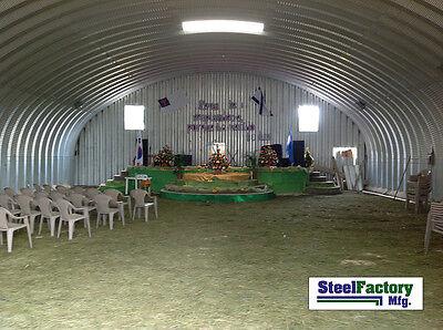 Steel Factory S30x30x14 Metal Storage Building Horse Barn Prefab Arch Panel Kit