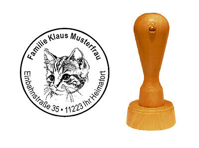 Stempel « KATZE » 04 Adressenstempel Motivstempel Kätzchen Kater Haustier