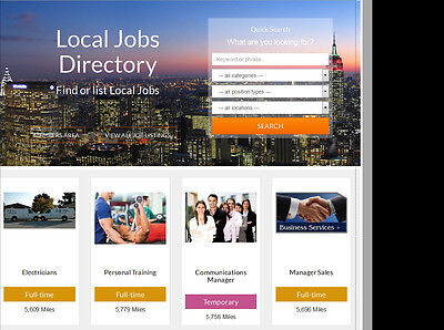 Jobs Board Directory Profitable Website - Hosting Included