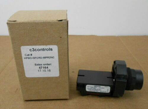 1 NIB C3 CONTROLS HPBO-GFCRD-MPR2NC PILOT LIGHT 30MM 2 CONTACT BLOCK (4 AVAIL)