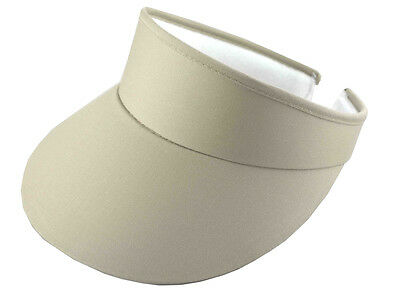 (Cotton Twill Clip-On Visor-khaki)