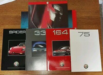 1992 Alfa Romeo full set of range brochures & price list in folder.