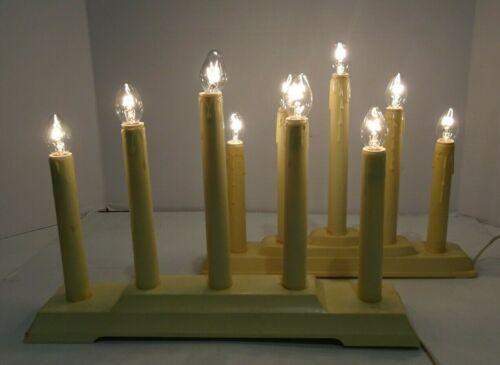 Vintage Electric Candlestick Lights Christmas Window  - 5 bulb - 2 Sets
