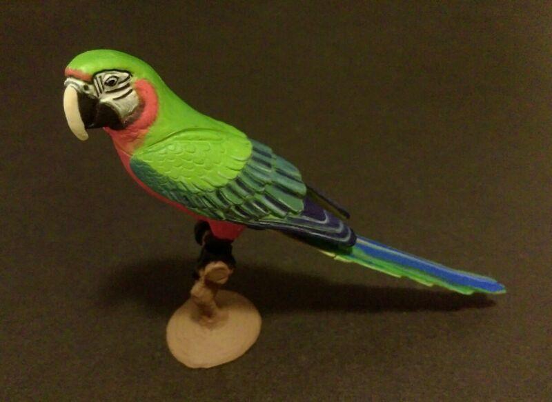 RARE Kaiyodo Choco Q  Pet Animal 5 Harlequin Macaw Parrot Bird Figure Nice!