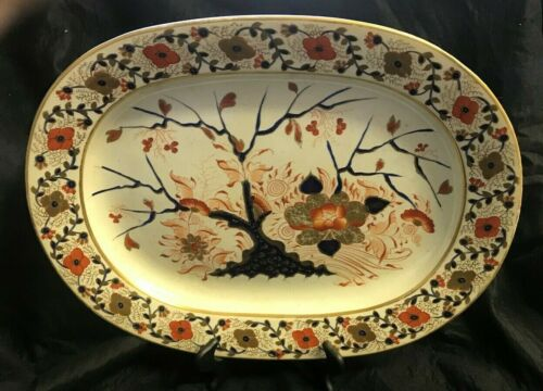 Antique English Imari Style Platter
