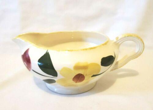 Blue Ridge Southern Potteries  SUN BOUQUET  Gravy Sauce Boat Dish  Yellow