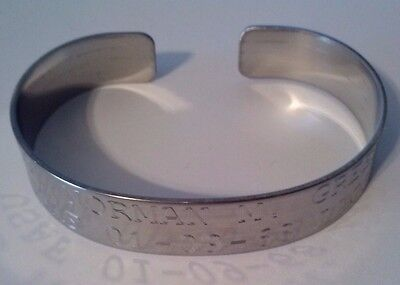 POW/MIA Prisoner of War Missing in Action Army Navy Marines Air Force Bracelet