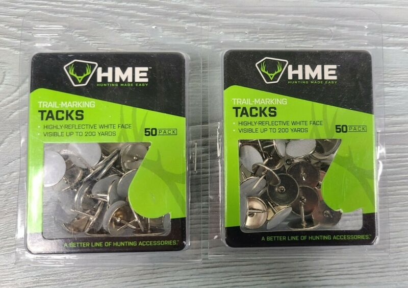 HME - Trail-Marking Tacks - 50per pack Model #RT-50-W - 2 Packs