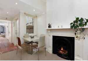 Dining table square cream beige includes 4 chairs Paddington Eastern Suburbs Preview