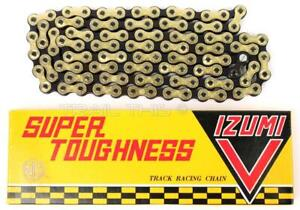 Izumi V Super Toughness Gold & Black Fixed-Gear Track Bicycle Chain Keirin NJS