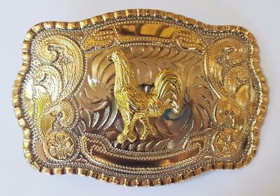 bronze USA ✖ WESTERN Steer Saddle Cowboy Rodeo Style ✖ Belt Buckle Buck ✖ Gold
