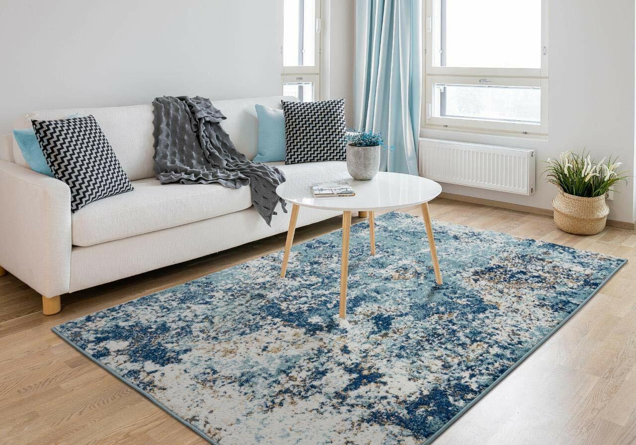 Area Rug 8 X 10 Black Modern Carpet