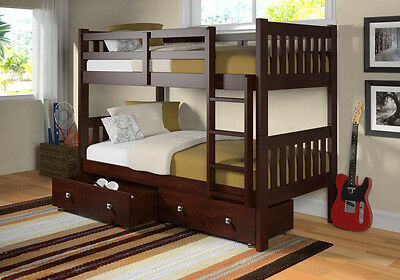 Modern Mission Bunk Beds with Storage