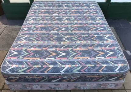 Comfortable Queen Bed Base with Mattress. Delivery can do