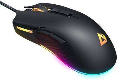 AUKEY RGB Gaming Mouse Wired with 6 Adjustable DPI Levels from 600 to 5000 [3325