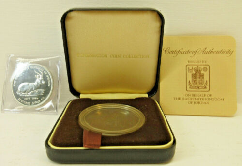 1977 Hashemite Kingdom of Jordan 2.5 Dinars Silver Proof Coin w/ Box COA