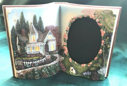 """COTTAGE HERBS PICTURE FRAME  -  BOOK SHAPED 3-D FRAME FOR 4.5"""" X 3"""" PICTURE"""