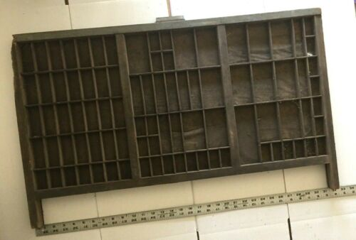Antique Hamilton Letterpress Tray Drawer  Display Shelf Cabinet Littles Crafts