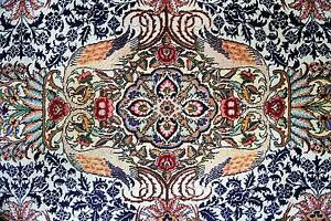 VERY RARE VINTAGE GARDEN DESIGN HAND WOVEN PERSIAN TABRIZ RUG Chatswood Willoughby Area Preview
